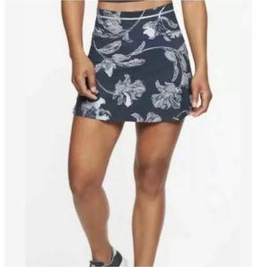 Athleta Floral Sonic Skort Blue Sz XS Tennis Skirt